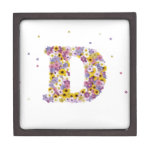 Flower letter D Premium Gift Box