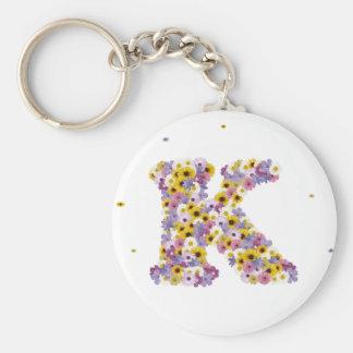Flower letter K Keychain