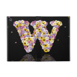 Flower letter w covers for iPad mini