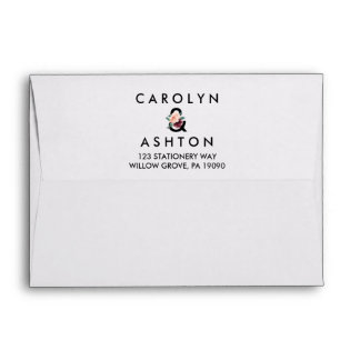 Flower Lettering | Maroon Wedding Invitation Envelope