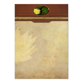 Flower - Lily - Morning showers 5x7 Paper Invitation Card