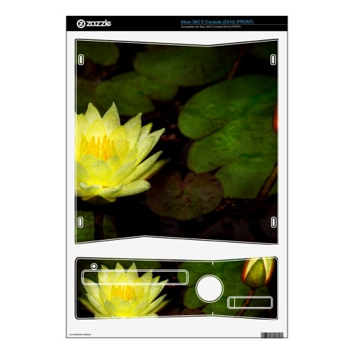 Flower - Lily - Morning showers Xbox 360 S Console Decal