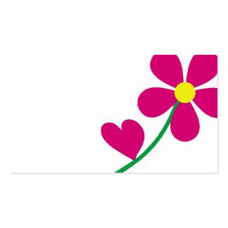 flower love floral, garden, nature business card
