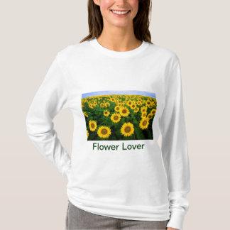 Flower Lover Sunflower Field Yellow Flowers T-Shirt