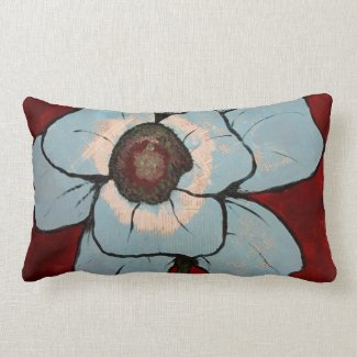 flower lumbar cotton throwpillow