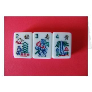 Flower Mah-Jongg Card