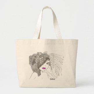 Flower Maiden 2 Large Tote Bag