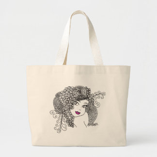 Flower Maiden Large Tote Bag