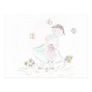 Flower Maiden Postcard