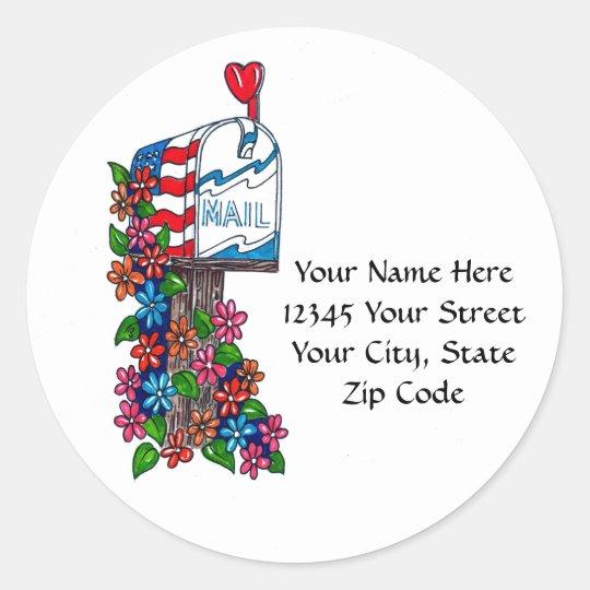 Flower Mailbox: Address Labels