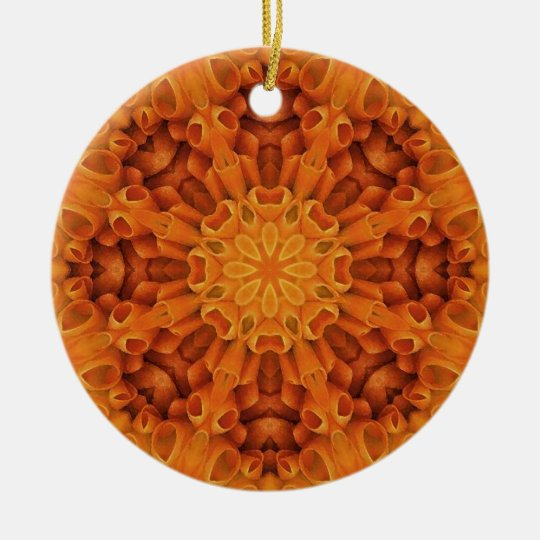 Flower Mandala 48 Ceramic Ornament