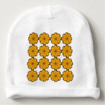 Flower mandala baby beanie