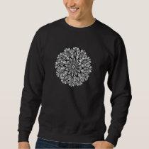 Flower Mandala black and white Sweatshirt