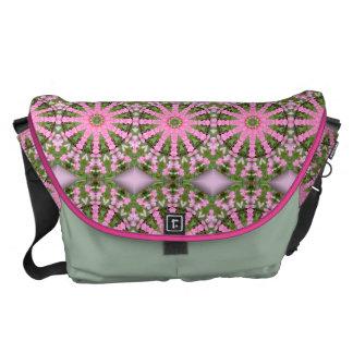 Flower Mandala, Bleeding heart Courier Bag