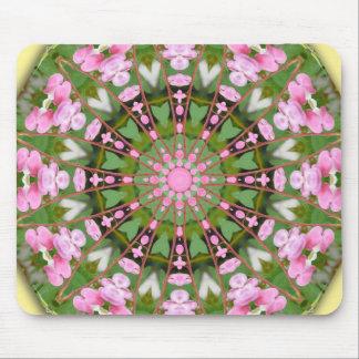 Flower Mandala, Bleeding heart Mouse Pad