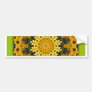 Flower-Mandala, Brown Eye Susans Bumper Sticker