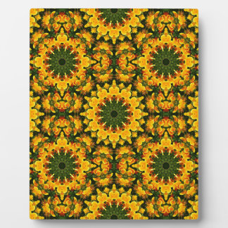 Flower-Mandala, California Poppies Plaque