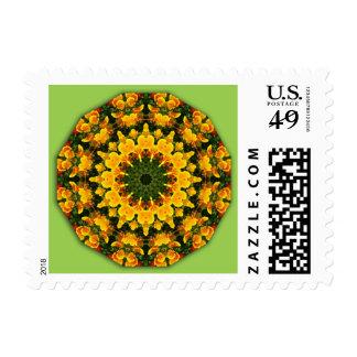 Flower-Mandala, California Poppies Postage