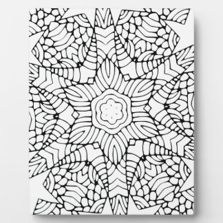 Flower Mandala Color-in Plaque
