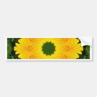 Flower Mandala, Dandelion Bumper Sticker