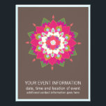 """Flower Mandala  Flyer<br><div class=""""desc"""">Eye catching inspired mandala design. Image can be moved around or re-sized to make room for additional text.</div>"""