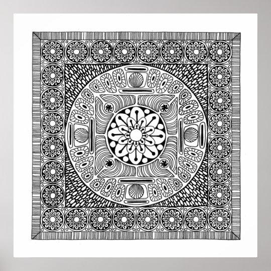 Flower Mandala II Poster