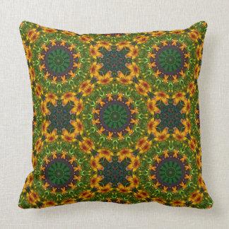Flower Mandala, Lilium Throw Pillow