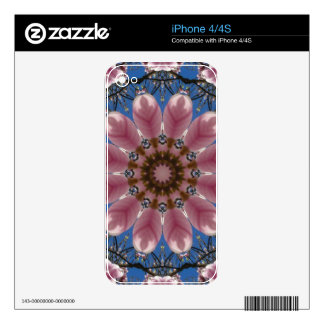 Flower Mandala, pink spring blossoms iPhone 4 Decals