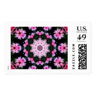 Flower Mandala Postage Stamps