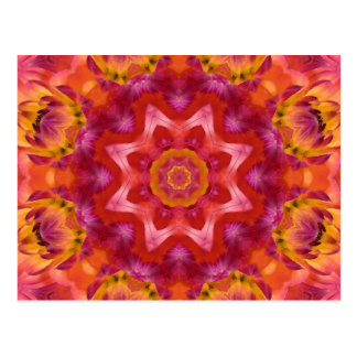 Flower Mandala Postcard