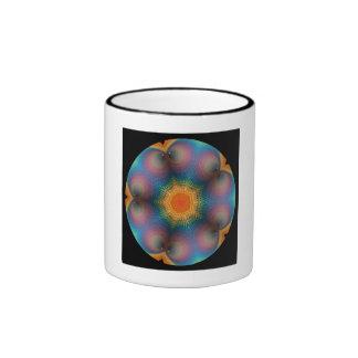 Flower Mandala Sacred Geometry Coffee Cup Ringer Coffee Mug