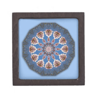 Flower Mandala, spring blossoms Jewelry Box