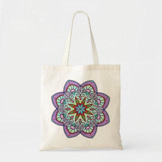 Flower Mandala Tote Bag (purple)
