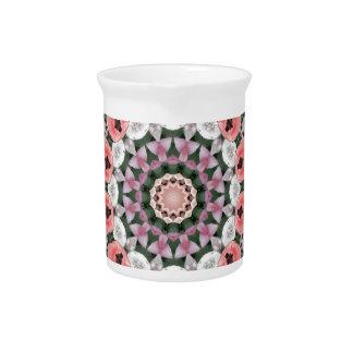 Flower Mandala, Tulips Beverage Pitcher