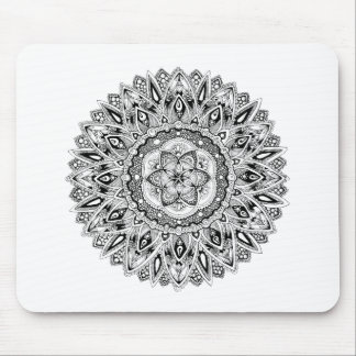 Flower mandala w/ seed of life mouse pad