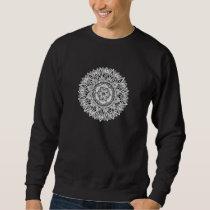 Flower mandala w/ seed of life sweatshirt