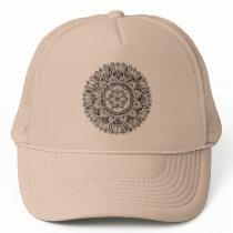 Flower mandala w/ seed of life trucker hat