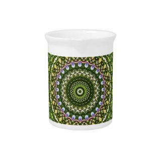 Flower-Mandala, Wildflower Drink Pitcher