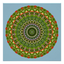 Flower-Mandala, Wildflower Poster