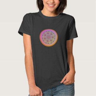Flower Mandala - Woman's Black T-Shirt