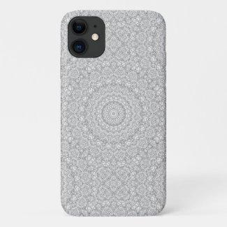 Flower Mandalal_MG_2221 BlackNWhite iPhone 11 Case