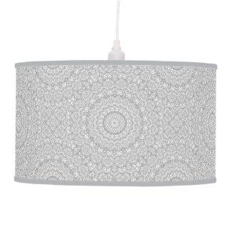 Flower Mandalal_MG_2221 BlackNWhite Ceiling Lamp