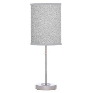 Flower Mandalal_MG_2221 BlackNWhite Table Lamp