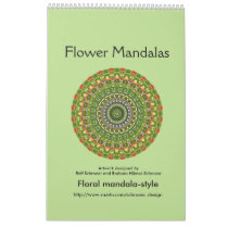 Flower Mandalas for a whole year 2017 Calendar