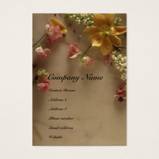 Flower & Marble Profile Card