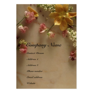Flower & Marble Profile Card Large Business Cards (Pack Of 100)