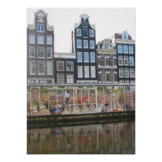 Flower Market Amsterdam Photo Poster