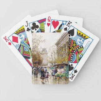 Flower Market at the Madeleine, Paris Deck Of Cards