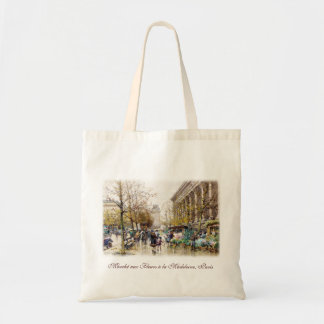 Flower Market at the Madeleine, Paris Tote Bag