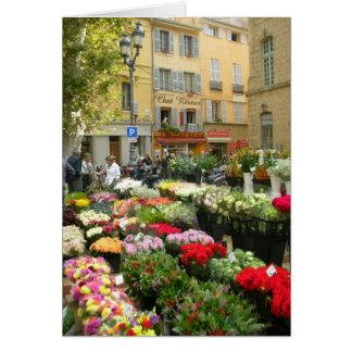 Flower Market in Aix en Provence, France Card